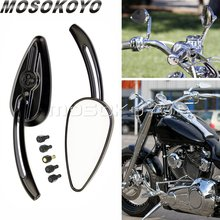 Rearview-Mirrors Harley-Flstc Sportster Cruisers Softail Retro for Dyna Heritage Skull