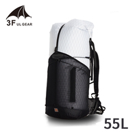 3F UL GEAR Trajectory 55L Outdoor Ultralight Backpack Women/Men Bag XPAC Rucksack Big Capacity Camping Sport Bag Light