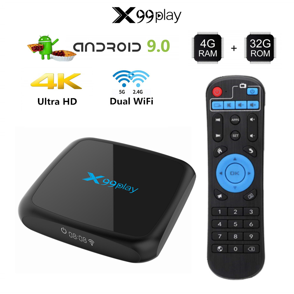 R3 Smart Tv Box Android 9.0 décodeur 4K 3D mi ni Tv Box 2gb 4gb 32gb 64gb Quad Core lecteur multimédia PK X96 mi NI HK1 Max mi image