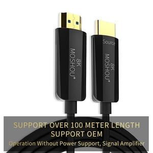 Image 5 - אופטי סיבי HDMI 2.1 כבל במיוחד HD (UHD) 8K כבל 120GHz 48Gbs עם אודיו & Ethernet HDMI כבל HDR 4:4:4 Lossless כבל