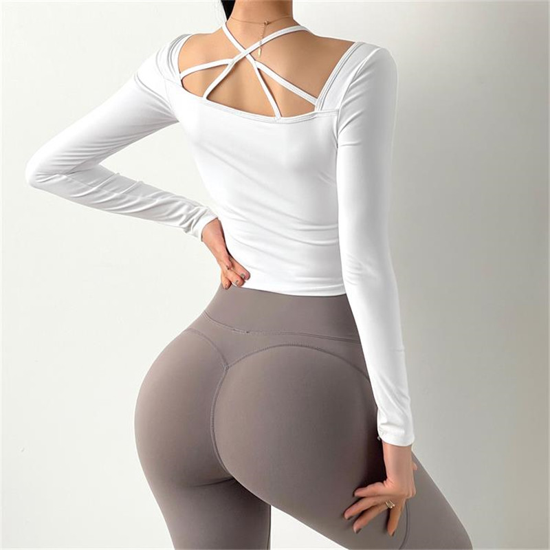 Running Workout Crop Top Women Fitness Long Sleeve Sports Clothes Tight Yoga Shirts Female Casual Sweatshirt Sport9s