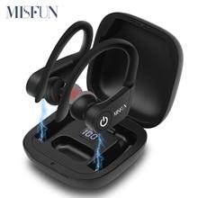 Беспроводные TWS наушники MISFUN, Bluetooth 5,0 с зарядным устройством, спортивные наушники с крючком для iphone, xiaomi
