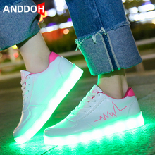 Size 30-41 Kids Led Light Shoes Boys Luminous Sneakers for