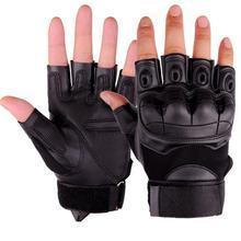 Мужские спортивные перчатки на полпальца для охоты и велоспорта, Тактические Зеленые/хаки/черные перчатки