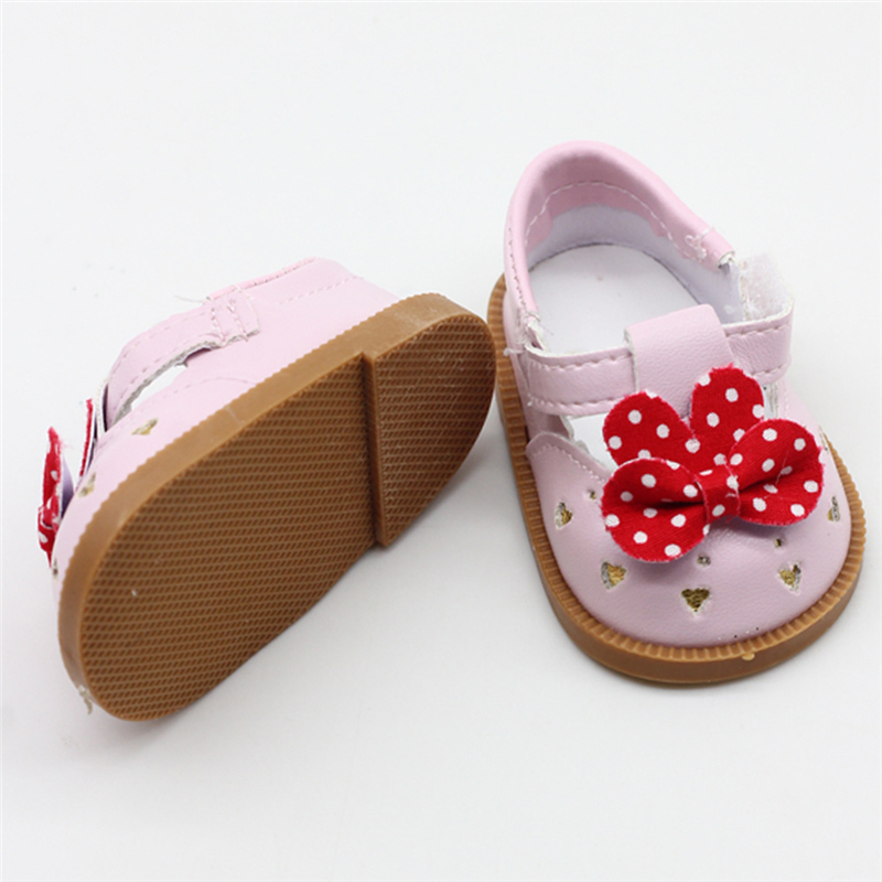 Baby-Doll-Cool-Fashion-Bowknot-leather-shoes-For-18-Inch-Our-Generation-Girl-Doll-Accessory-Shoes (4)