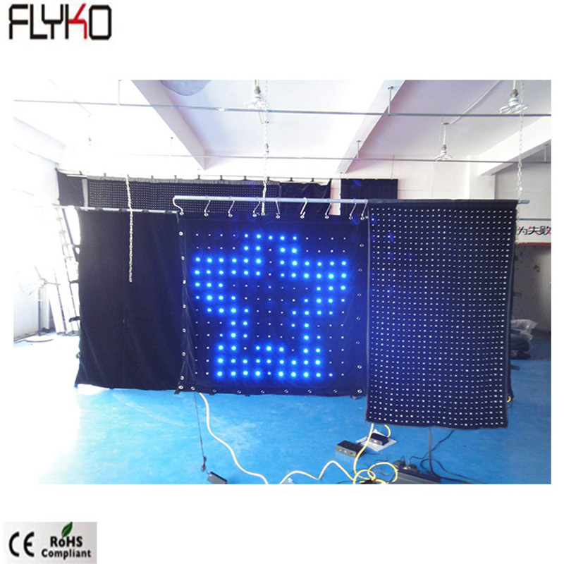 Flyko Free Shipping Seamless Zipper Connection Led Video Cloth P80mm 1x1m Alibaba In Russian For Stage Covers DJ Booths