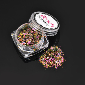 Beautybigbang 0.1g 12color Bling Nail Glitters Powder Starry Chrome Dust Manicure Decorations Nail Art Tip