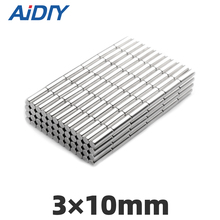 AI DIY 10/30/100Pcs 3 x 10mm Permanent Magnet Small Round 3x10mm Super Strong Powerful Rare Earth Neodymium MagnetS Disc 3*10mm