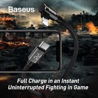 Baseus Elbow Design 18W Quick Charge PD Cable for iPhone PD Type C to for Apple Lightning Charging Cable USB C for iPhone Cable