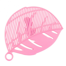Kitchen Tool Snap on Leaf Shape Drain Board Retaining Rice Vegetable Noodle Plastic Filter Block Rice Cleaning Strainer Gadgets