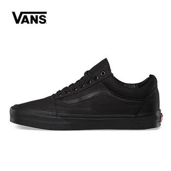 цена на Original Vans Old Skool Black Shoes Men Women Sneakers Unisex Skateboarding Vans Shoes Black VN000D3HBKA