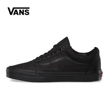 цена Original Vans Old Skool Black Shoes Men Women Sneakers Unisex Skateboarding Vans Shoes Black VN000D3HBKA онлайн в 2017 году