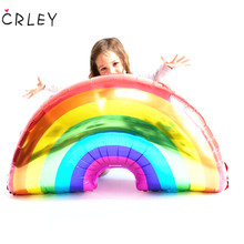 CRLEY 10pcs Big Rainbow Balloon Top Quality Multi Color Useful LGBT Wedding Decoration Balloons Brand New Supplies Party Decor
