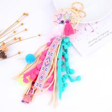 1Pc Vintage Dreamcatcher Multicolored Long Tassel Keychain