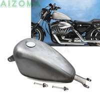 2.4 Gallon Vintage EFI Oil Gas Fuel Tank w/ Cap Screws Kit For Harley Sportster Iron XL 883 72 1200 Roadster Forty eight Custom