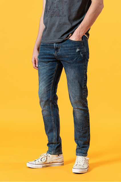Summer slim fit jeans with hole ripped