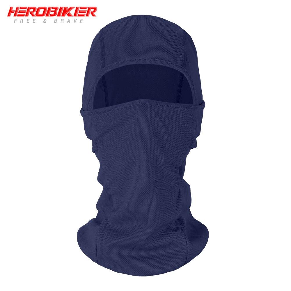 HEROBIKER мотоциклетная Балаклава маска для лица мото теплая ветрозащитная дышащая страйкбольная Пейнтбольная велосипедная Лыжная маска для лица мужской солнцезащитный шлем - Цвет: BE-10