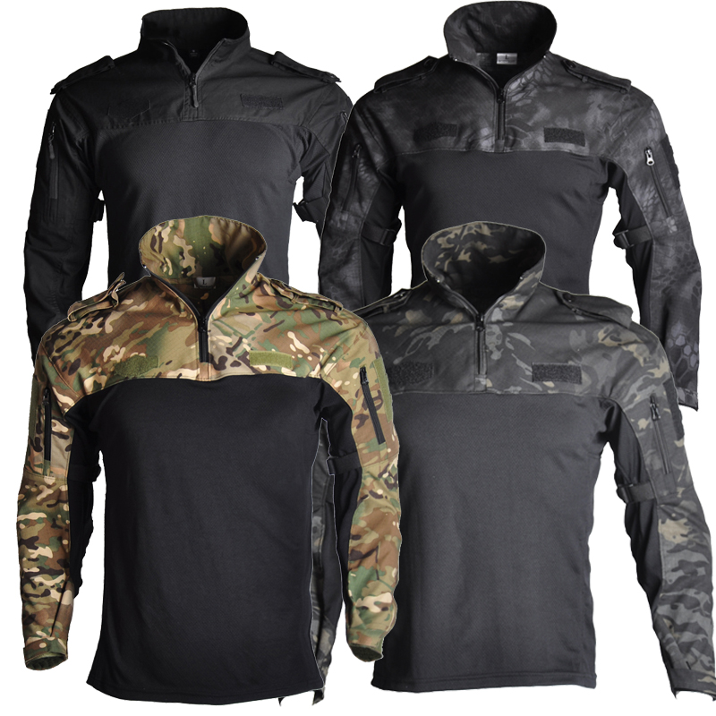 Army Clothing Tactical Combat Shirt Military Hiking T-Shirt Tatico Tops Airsoft Multicam Camouflage Hunting Fishing Clothes Mens
