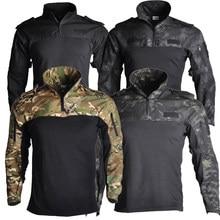 Vestuário do exército dos eua tático camisa de combate militar uniforme tatico topos airsoft multicam camuflagem caça roupas de pesca dos homens