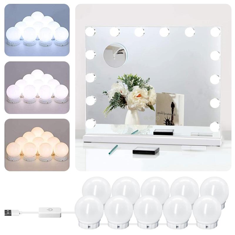Led Makeup Mirror Light Bulbs Usb Hollywood Make Up Lamp Vanity Lights Bathroom Dressing Table Lighting Dimmable Led Wall Lamp Hot Sale 85bea Goteborgsaventyrscenter