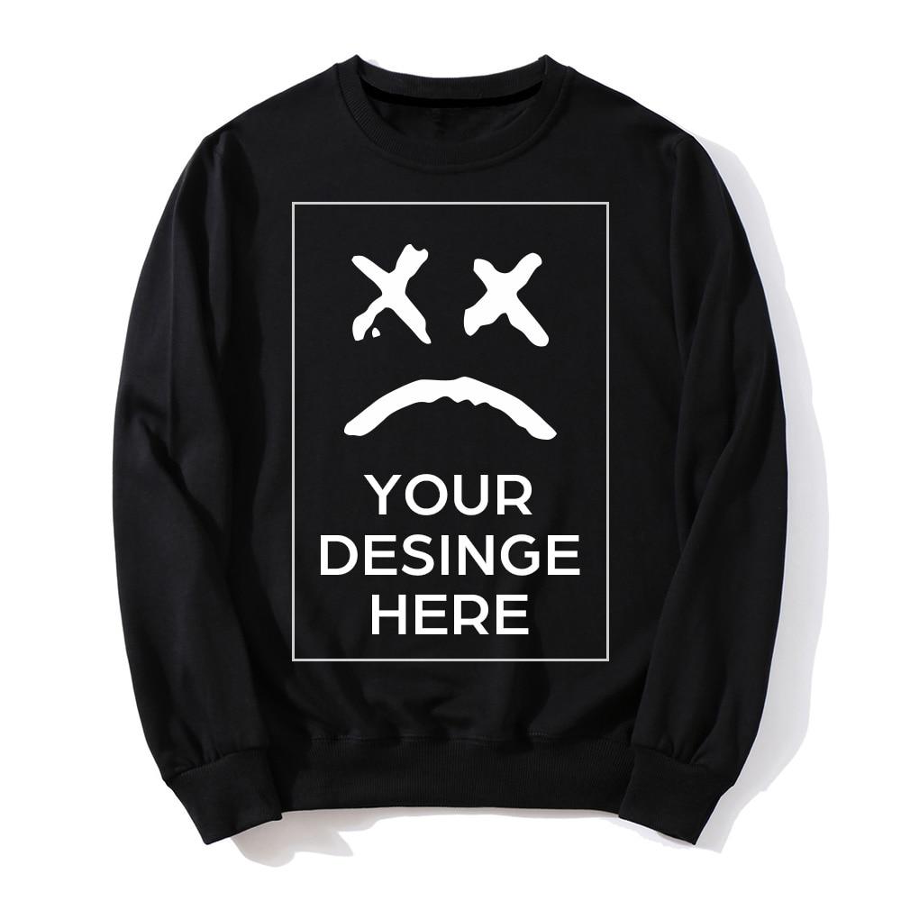 2019 New Spring Autumn Fashion Hoodies Male Casual Coat Men Clothing Custom Printed Logo Design Own Brand Hoodies Sweatshirts