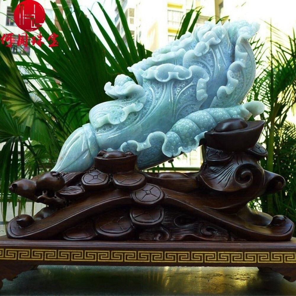 Hezhou jewelry!Myanmar natural jade!Chinese cabbage hand-carved decoration!Living room desk accessories!14.60jins 2