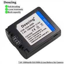 Аккумулятор для фотоаппарата, 1080 мАч, Φ CGR CGA S006E S006A S006, для Panasonic DMC FZ7 FZ8 FZ18 FZ28 FZ50 FZ30 FZ35 FZ38