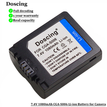 1080mAh CGA S006 CGR CGA S006E S006A S006 DMW BMA7 Batterie Per Foto/Videocamera Li Ion Per Panasonic DMC FZ7 FZ8 FZ18 FZ28 FZ50 FZ30 FZ35 FZ38
