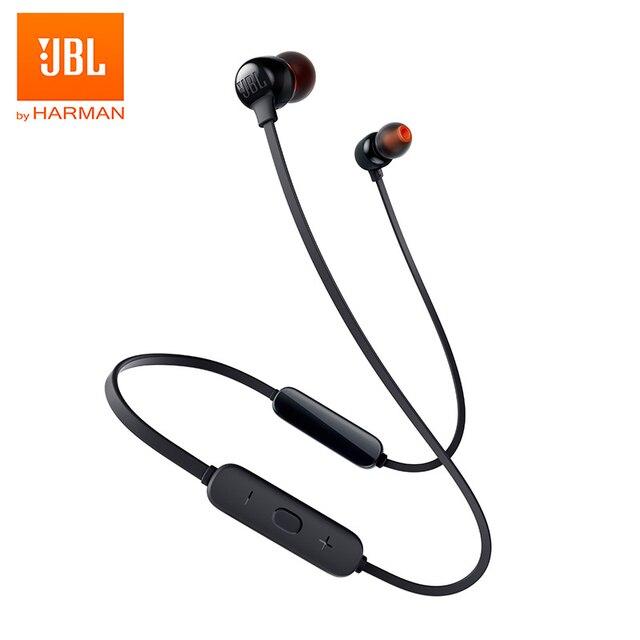 JBL – écouteurs Bluetooth sans fil T115BT, oreillettes magnétiques, charge rapide, son basse, 3 boutons, microphone à distance