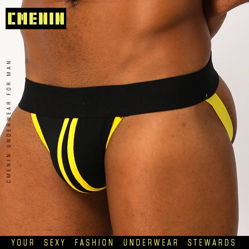 Male Sexy Gay Underwear Men Jockstrap Sissy Panties G Sting Thong Mens Strings Jock Strap Under Wear Bikini Man Lingerie BP.166