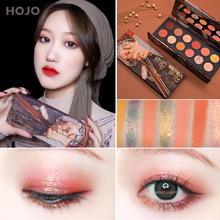 HOJO brand 12 color royalty noble oil painting matte Pearl EyeShadow Palette waterproof easy to colo