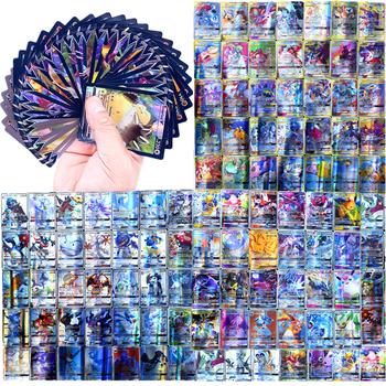 GX MEGA Shining French Pokemon Cards Game Battle metal Carte Trading Cards Game Children Pokemons Toy