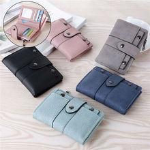 2020 NEW Women's Wallet PU Leather Classic Solid Clutch ID C