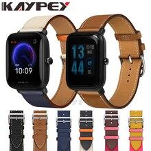 20mm mode bracelet de montre en cuir véritable pour Xiaomi Huami Amazfit Bip BIT Lite jeunesse/1S/U bracelet de poignet de remplacement