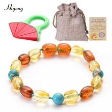 Baltic Amber Baby Teething Bracelet or Anklet  (Unisex) Handmade Original Jewelry Baltic Amber Turquoises Beads Bracelet все цены