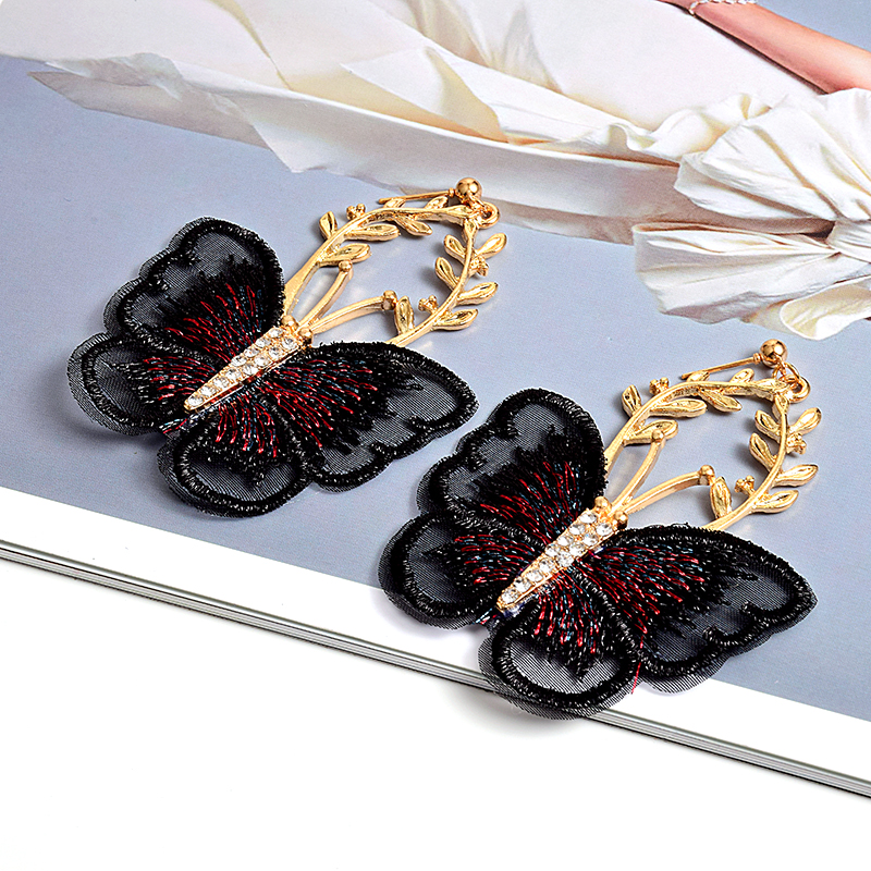 New Arrival Butterfly-Shaped Crystal Drop Earring Jewelry High-quality Fashion Trend Earrings Accessories For Women