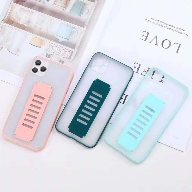 Wristband silicone Phone Cases For iPhone 11 Pro X XS Max 7 8 Plus SE 2020 Back Cover Camera Protection Shockproof Luxury Funda