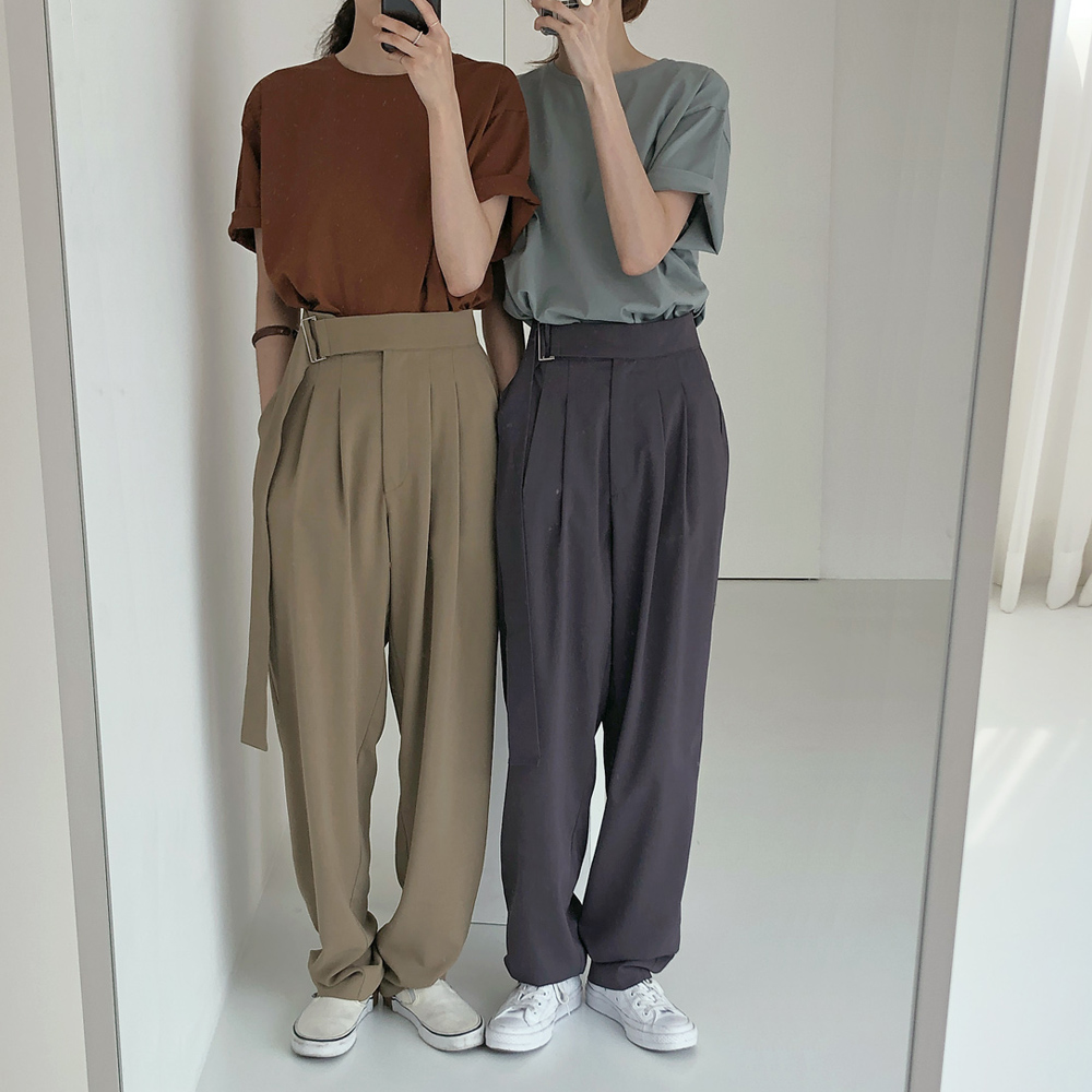 High Waist Women Wide Leg Long Pants Mujer Loose Vestidos Jurken Streetwear Solid Color Trousers Casual Autumn Ladies Pantalon
