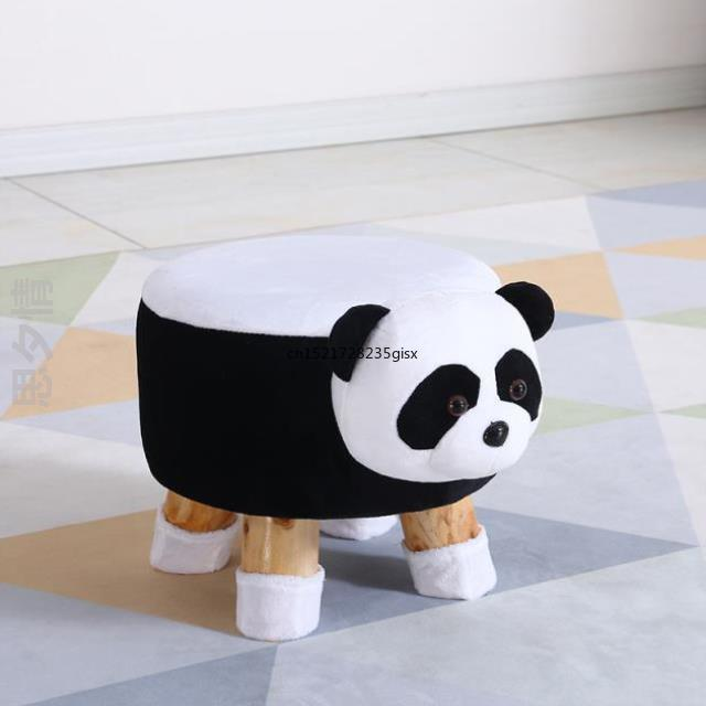 New Animal Shoes Bench Storage Chair Cows Stool Door Entrance Porch Change Shoes Children Stool Small Chair Solid Wood Cute