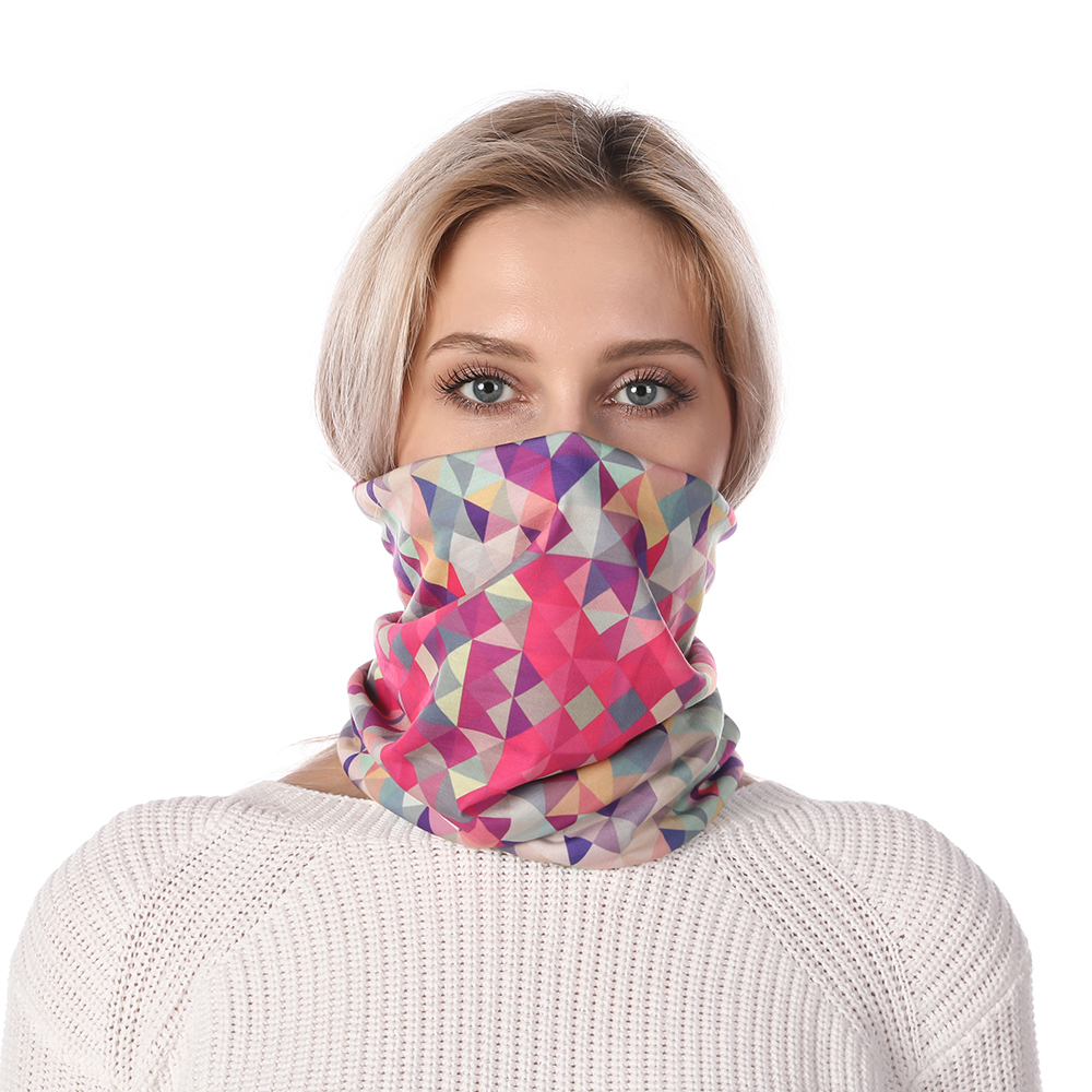 Fashion Neck Mask Scarf Plaid High Elasticity Neckerchief Windproof Anti Dust Hiking Headband Scarf Foulard Femme Riding Sweat