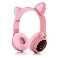 Cute Cat Ear Headset Wireless Headset Headphones 5.0 Bass Fo