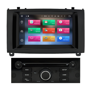Image 2 - 4G RAM Android 9,0 Auto DVD Player Multimedia Stereo Für Peugeot 407 2004 2005 2006 2007 2008 2009 2010 auto Radio GPS Navigation