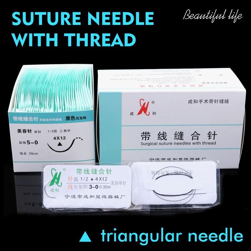 1 Pcs Suture Needle Surgery Tool Nano-traceless Angle Needle Eyelid Burying Surgical Instrument Triangle Eyebrow Canthus