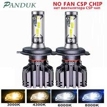 PANDUK светодиодные фары CSP 3000 лм H4 H7 LED H1 H3 H8 H11 Светодиодный 4300K 6000K 8000K 9005 светодиодный 9006 HB3 HB4 881 светильник 50 Вт 12 В