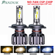 PANDUK LED פנס CSP 16000LM H4 H7 LED H1 H3 H8 H11 LED 3000K 4300K 6000K 8000K 9005 LED 9006 HB3 HB4 881 רכב אור 50W 12V