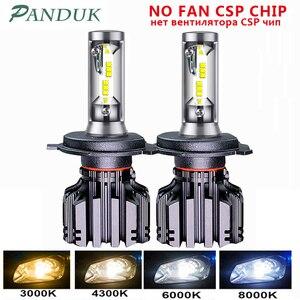 Image 1 - PANDUK LED פנס CSP 16000LM H4 H7 LED H1 H3 H8 H11 LED 3000K 4300K 6000K 8000K 9005 LED 9006 HB3 HB4 881 רכב אור 50W 12V