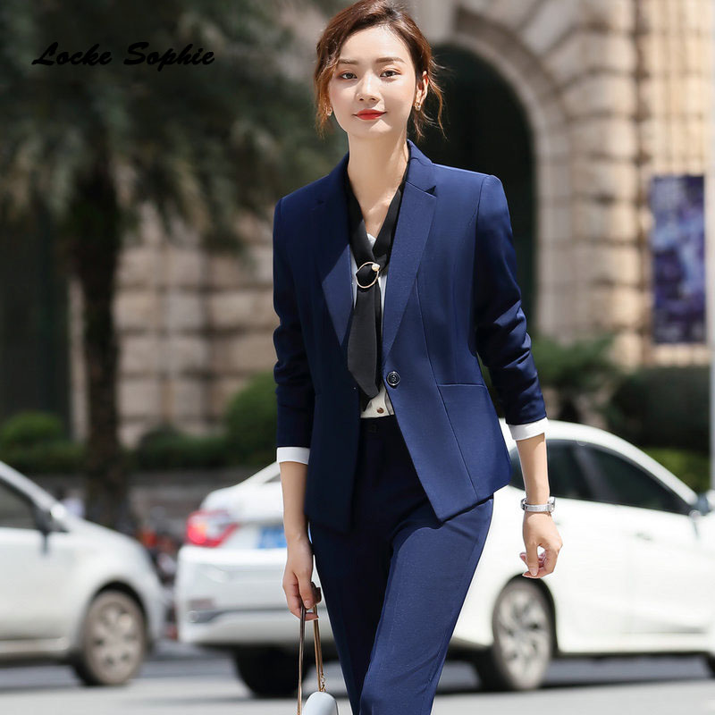 1pcs Women's Plus Size Blazers Coats 2019 Winter Fashion Cotton Slim Fit Small Suits Jackets Ladies Skinny Office Blazers Suits