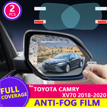 Full Cover Anti Fog Rainproof Film for Toyota Camry 70 XV70 2018 2019 2020 Car Rearview Mirror Protective Film Accessories image