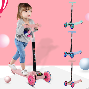 Children's Scooter 3 In 1 Balance Bike Children's Tricycle Car Kick Scooter For Kids Flash Folding Children Bicycle Ride on Toys ride on tricycle kids balance bike portable baby bicycle stroller tricycle scooter learning walk with pedals