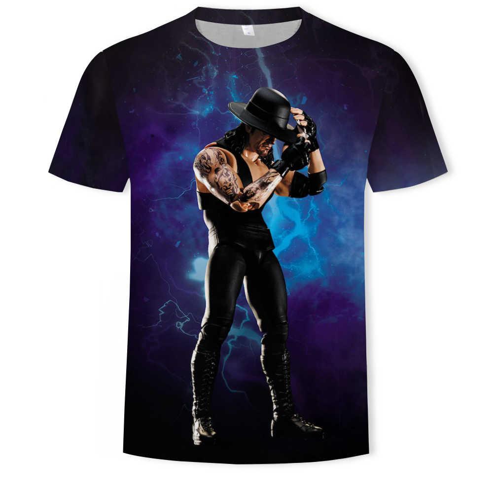 2019 WWE את אנדרטייקר 3d הדפסת גברים קצר שרוול עגול צוואר חולצה מקרית היפ הופ קיץ tees למעלה היאבקות לחימה t חולצה
